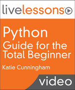 Book cover for Python Guide for the Total Beginner LiveLessons (Video Training)
