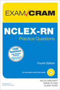 Cover of NCLEX-RN® Practice Questions Exam Cram, Fourth Edition