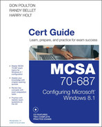 Cover of MCSA 70-687 Cert Guide: Configuring Microsoft Windows 8.1