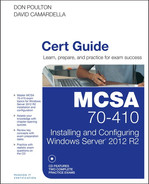 Cover of MCSA 70-410 Cert Guide: Installing and Configuring Windows Server 2012 R2