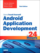 Cover of Android™ Application Development in 24 Hours, Sams Teach Yourself, Third Edition