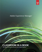 Cover of Adobe® Experience Manager: Classroom in a Book®: A Guide to CQ5 for Marketing Professionals