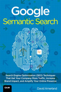 Cover of Google™ Semantic Search: Search Engine Optimization (SEO) Techniques That Get Your Company More Traffic, Increase Brand Impact, and Amplify Your Online Presence