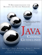Cover of Java™ Coding Guidelines: 75 Recommendations for Reliable and Secure Programs