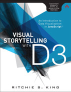 Cover of Visual Storytelling with D3: An Introduction to Data Visualization in JavaScript™