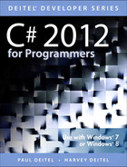 Cover of C# 2012 for Programmers, Fifth Edition