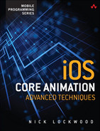Cover of iOS Core Animation: Advanced Techniques