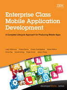 Cover of Enterprise Class Mobile Application Development: A Complete Lifecycle Approach for Producing Mobile Apps