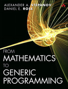 Cover of From Mathematics to Generic Programming
