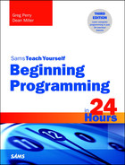 Cover of Beginning Programming in 24 Hours, Sams Teach Yourself, Third Edition