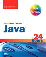 Cover of Java™ in 24 Hours, Sams Teach Yourself (Covering Java 8), Seventh Edition