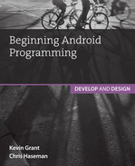 Cover of Beginning Android Programming: Develop and Design