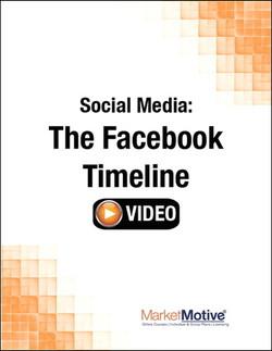 Social Media: The Facebook Timeline (Streaming Video)