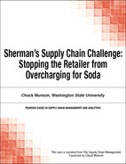Cover of Sherman's Supply Chain Challenge: Stopping the Retailer from Overcharging for Soda