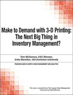 Make to Demand with 3-D Printing: The Next Big Thing in Inventory Management?