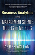 Cover of Business Analytics with Management Science Models and Methods