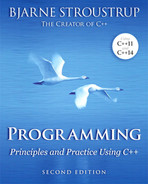 Cover of Programming: Principles and Practice Using C++, Second Edition