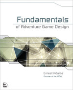 Cover of Fundamentals of Adventure Game Design
