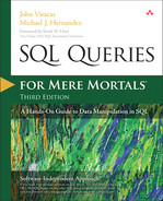 Cover of SQL Queries for Mere Mortals®: A Hands-On Guide to Data Manipulation in SQL, Third Edition