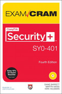 Cover of CompTIA® Security+™ SY0-401 Exam Cram, Fourth Edition