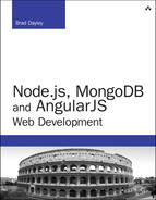 Cover of Node.js, MongoDB, and AngularJS Web Development