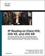 Book cover for IP Routing on Cisco IOS, IOS XE, and IOS XR: An Essential Guide to Understanding and Implementing IP Routing Protocols