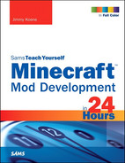 Cover of Minecraft™ Mod Development in 24 Hours, Sams Teach Yourself