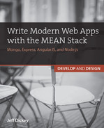 Cover of Write Modern Web Apps with the MEAN Stack: Mongo, Express, AngularJS, and Node.js
