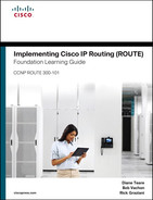 Cover of Implementing Cisco IP Routing (ROUTE) Foundation Learning Guide: (CCNP ROUTE 300-101)