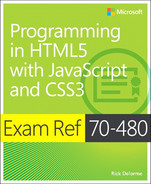 Cover of Exam Ref 70-480: Programming in HTML5 with JavaScript and CSS3