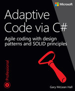 Cover of Adaptive Code via C#: Agile coding with design patterns and SOLID principles