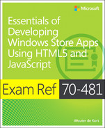 Cover of Exam Ref 70-481: Essentials of Developing Windows Store Apps Using HTML5 and JavaScript