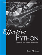 Cover of Effective Python: 59 Specific Ways to Write Better Python