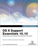 Book cover for Apple Pro Training Series: OS X Support Essentials 10.10: Supporting and Troubleshooting OS X Yosemite