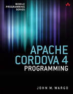 Cover of Apache Cordova 4 Programming