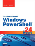 Cover of Sams Teach Yourself Windows PowerShell in 24 Hours