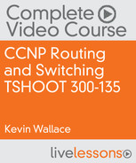 Book cover for CCNP Routing and Switching TSHOOT 300-135 Complete Video Course