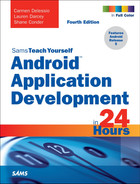 Cover of Sams Teach Yourself Android Application Development in 24 Hours, Fourth Edition