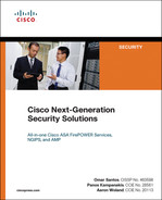 Cover of Cisco Next-Generation Security Solutions: All-in-one Cisco ASA Firepower Services, NGIPS, and AMP
