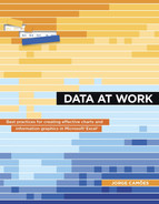 Book cover for Data at Work: Best practices for creating effective charts and information graphics in Microsoft Excel