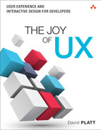 Cover of The Joy of UX: User Experience and Interactive Design for Developers