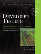 Cover of Developer Testing: Building Quality into Software