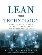 Cover of Lean and Technology: Working Hand in Hand to Enable and Energize Your Global Supply Chain