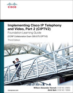Cover of Implementing Cisco IP Telephony and Video, Part 2 (CIPTV2) Foundation Learning Guide (CCNP Collaboration Exam 300-075 CIPTV2), Third Edition