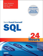 Cover of SQL in 24 Hours, Sams Teach Yourself, Sixth Edition