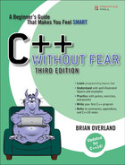 Cover of C++ Without Fear: A Beginner's Guide That Makes You Feel Smart, Third Edition