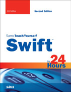 Cover of Sams Teach Yourself Swift in 24 Hours, Second Edition