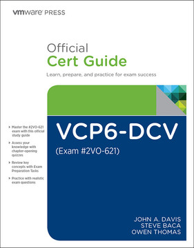 VCP6-DCV Official Cert Guide (Covering Exam #2VO-621), Third Edition
