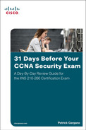 Cover of 31 Days Before Your CCNA Security Exam: A Day-By-Day Review Guide for the IINS 210-260 Certification Exam