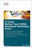 Cover of 31 Days Before Your CCNA Routing & Switching Exam: A Day-By-Day Review Guide for the ICND1/CCENT (100-105), ICND2 (200-105), and CCNA (200-125) Certification Exams
